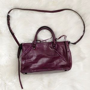 Rebecca Minkoff Regan Satchel Tote Dark Cherry